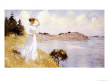 Eleanor on the Hilltop, 1912 Premium Giclee Print by Frank Weston Benson