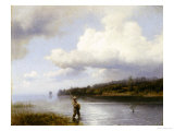 Fly Fishing Giclee Print by Hermann Herzog