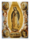 La Virgen de Guadalupe, 18th Century, Mexican School Reproduction procédé giclée