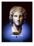 A Marble Head of a Young Man, Possibly Apollo, 2nd Century After 4th Century BC Giclee Print