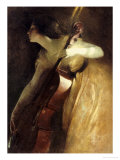 A Ray of Sunlight (The Cellist), 1898 Gicléetryck av John White Alexander