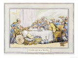 "The Dinner, from ""The Comforts of Bath"", 1798 Prints by Thomas Rowlandson"