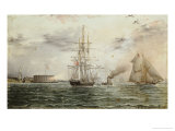 New York Bay, Castle Clinton, circa 1875 Giclee Print by James Abbott McNeill Whistler