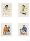 Four Color Reproductions of American Indians, in Carved Frames Posters by Thomas Molesworth
