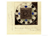 Design for Clock Face, 1917 Prints by Charles Rennie Mackintosh