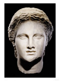 A Greek Marble Female Head, Classical Period, circa Mid 4th Century Prints