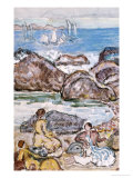 By the Sea Giclee Print by Maurice Brazil Prendergast