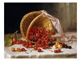 A Basket of Cherries Giclee Print by John F. Francis