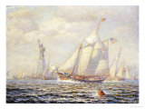 New York Harbor, 1919 Giclee Print by James Gale Tyler