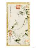 A Phoenix Standing on a Chinese Parasol Tree, 1890 Poster by Cixi