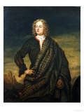 Andrew Macpherson of Cluny (1640-1666), in Plaid, His Left Hand Resting on His Broadsword Giclee Print by Richard Waitt