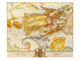 Uranographia, or the Celestial Atlas, circa 1800 Giclee Print by John Bevis