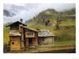 Mountain House Posters by Albert Bierstadt