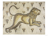 A Byzantine Marble Mosaic Panel Depicting a Lion in a Field of Flowers, circa 5th-6th Century AD Giclee Print