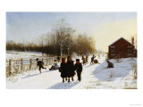School's Out, 1882 Premium Giclee Print by Samuel S. Carr