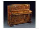 Carved Mahogany and Marquetry Upright Piano Print by K. Bord