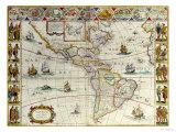 Le Theatre Du Monde Ou Nouvel Atlas, 1638 Lámina giclée por Johannes Blaeu