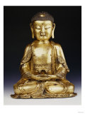 A Fine Ming Gilt-Bronze Buddha 16th Century Giclee Print