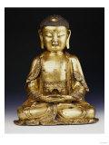 A Fine Ming Gilt-Bronze Buddha 16th Century Print