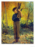 Boy Holding Logs, 1873 Prints by Winslow Homer