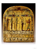 An Egyptian Painted Wood Stela Dynasty, circa 712-525 BC Posters