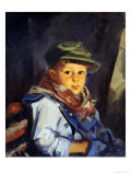 Boy with Green Cap (Chico), 1922 Premium Giclee Print by Robert Henri