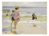 At the Seashore Giclee Print by Edward Henry Potthast