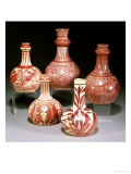 A Group of Ruby Lustre Vases Prints by William De Morgan