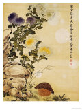 Chrysanthemums and Quail, 1702 Reproduction procédé giclée par Ma Yuanyu