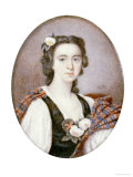 Flora Macdonald (1722-1790), in Black and White Dress with Bouquet of Roses and Tartan Plaid Giclee Print by George Murray