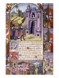Psalter, with Short Hours of the Virgin, in Latin, with French Verse, 1484 Giclee Print