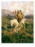 Visit to Another Tribe, 1909 Reproduction procédé giclée par Edward Samuel Paxson