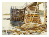 Wharf at Ironbound, 1922 Giclee Print by John Singer Sargent