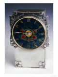 A Liberty & Co. Pewter and Enamel Clock (1864-1933) Giclee Print by Archibald Knox