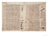 The Codex Hammer Giclee Print by Leonardo da Vinci 