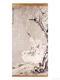 White Egrets on a Bank of Snow Covered Willows, 1767 Giclee Print by Huang Shen
