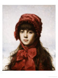 The Red Bonnet Giclee Print by Alexei Alexeivich Harlamoff