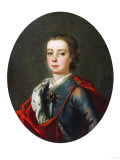 Prince Charles Edward Stuart (1720-1788), Facing Left in Blue Shot Silk Coat, White Lace Collar Láminas