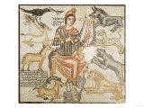 A Roman Marble Mosaic Depicting Orpheus, Eastern Mediterranean, 204 AD Prints