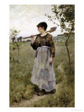 Home from the Fields Giclee Print by Charles Sprague Pearce