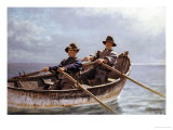 Heading Out, 1872 Stampa giclée di John George Brown