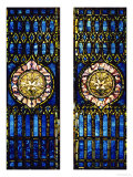 Two Leaded and Plated Glass Windows, circa 1910 Art by  Tiffany Studios