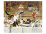 After Dinner Giclee Print by Louis Eugene Lambert