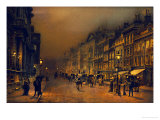 John Atkinson Grimshaw - St James's Street Digitálně vytištěná reprodukce