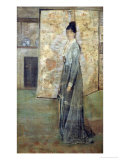 Arrangement in Flesh Color and Grey: the Chinese Screen Giclee Print by James Abbott McNeill Whistler