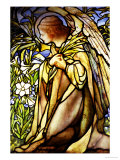 A Stained Glass Window of an Angel Premium Giclee Print by  Tiffany Studios