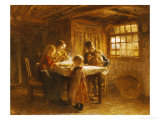 The Family Meal Prints by Bernardus Johannes Blommers