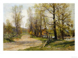 The Country Lane Giclée-Druck von Hugh Jones