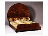 Lit Soleil Bed in Macassar Ebony, 1923 Art by Emile Jacques Ruhlmann