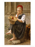 The Apple Girl Premium Giclee Print by Charles-victor Thirion